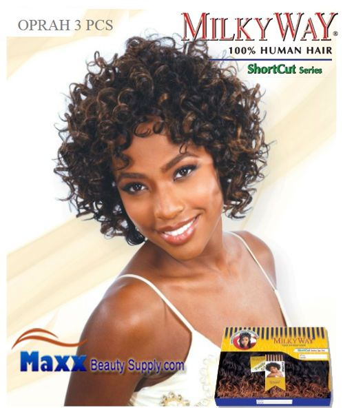 MilkyWay Human Hair Weave Short Cut Series - Oprah 3pcs